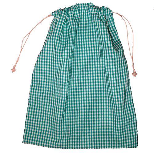 Bolsa de tela para almuerzo o merienda Vichy verde