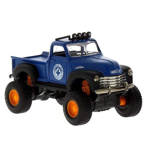 Coche Miniatura Fresh Metal  4x 4 Chevrolet Azul
