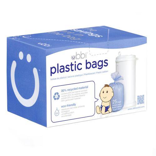 Recambio Bolsas de Plástico para Contenedor de Pañales 25 Unidades