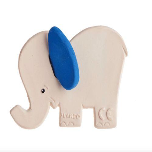 Mordedor de Caucho Natural Elefante Azul