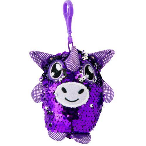 Glitter Palz Llavero de Lentejuelas Unicornio Lila