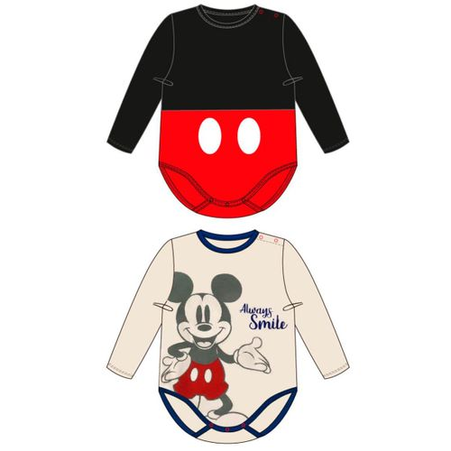 Pack 2 Bodies  Algodón Mickey 3-12 meses