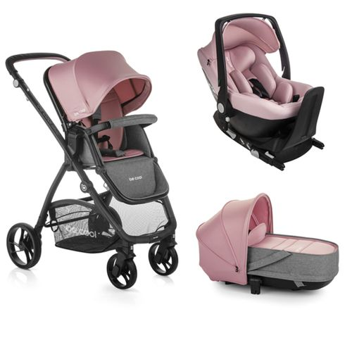 Trio Slide Crib con grupo 0+ con base Pink