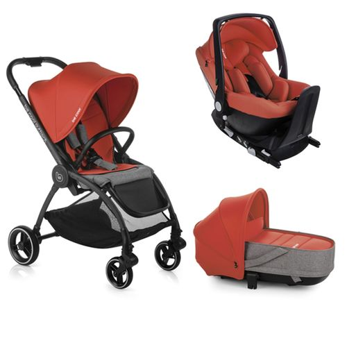 Trio Outback Crib + grupo 0 One con base Be Poppy