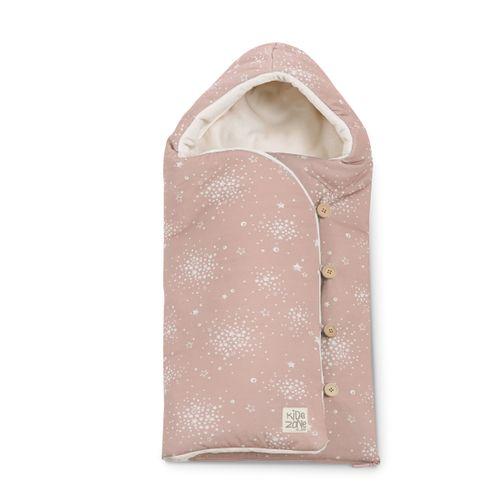 Saco nana Mims + arnés Boho pink