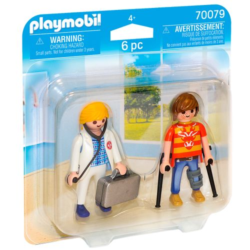 Playmobil City Life Duo Pack Doctora y Paciente