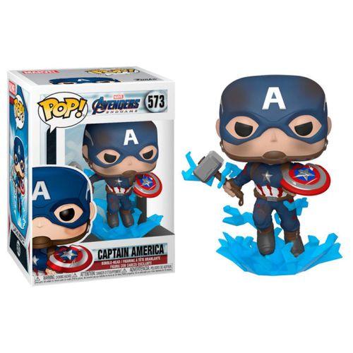 Funko POP Vengadores Capitán América Mjolnir