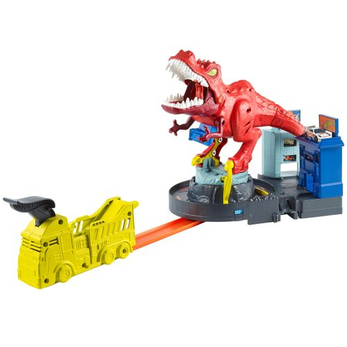 Hot Wheels City Alboroto del Dinosaurio T-Rex