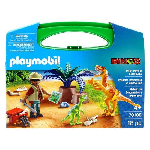 Playmobil Dinos Maletín Grande Dinos y Explorador