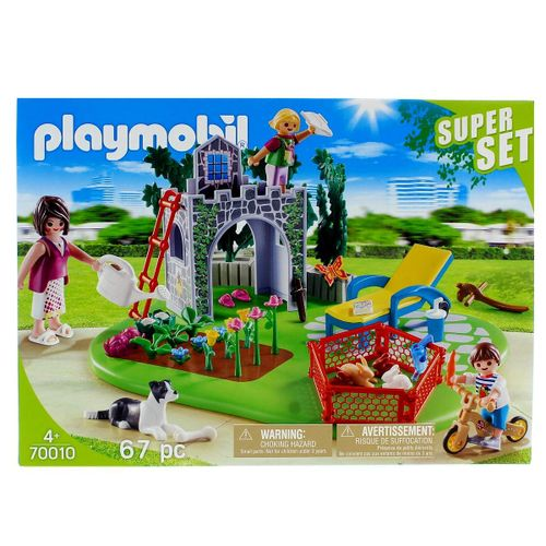 Playmobil Country SuperSet Familia en el Jardín