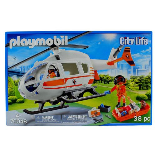 Playmobil City Life Helicóptero de Rescate