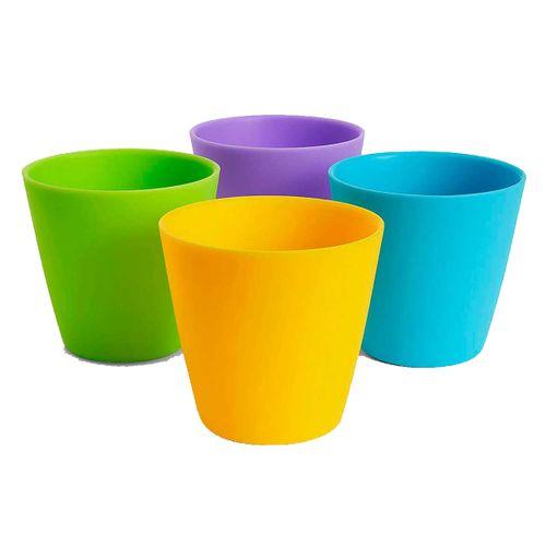 Lote 4 vasos de colores