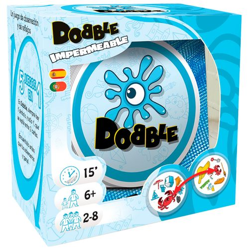 Dobble Beach Impermeable Juego de Cartas
