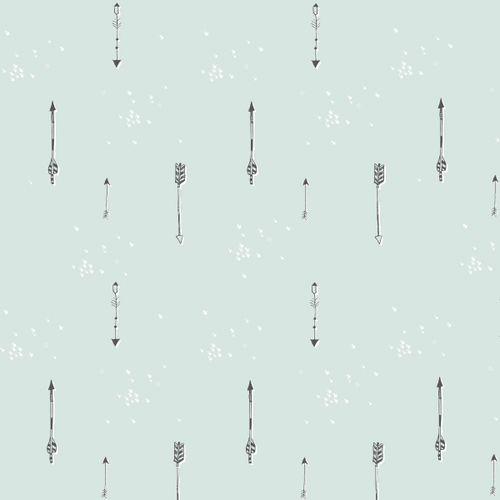 Muselina de Bambú Arrows menta