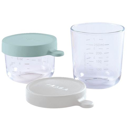 Set 2 botes de cristal 150/250 Ml Menta