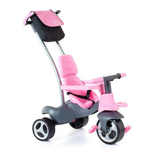 Triciclo Rosa con Ruedas de Goma