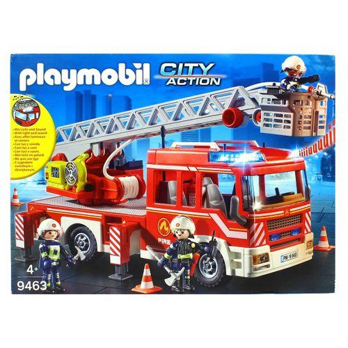 Playmobil Action Camión Grúa de Bomberos Escalera
