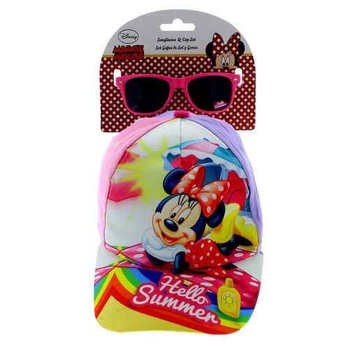 Minnie Mouse Pack Regalo Gafas Sol y Gorra