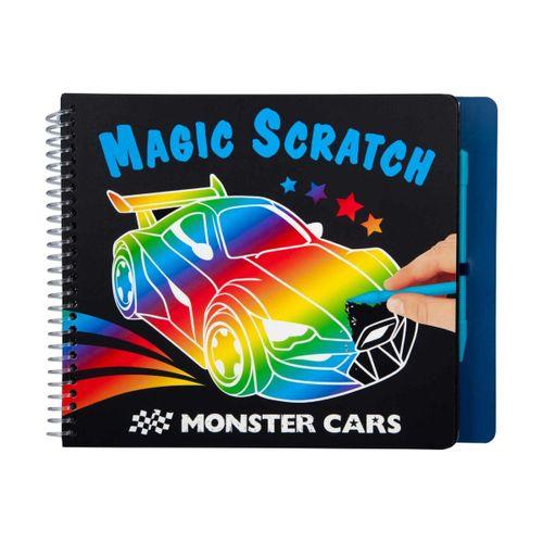 Cuaderno Monster Cars para Rascar