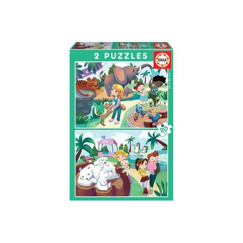 Puzzle Doble Zoo