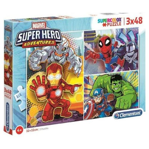 Marvel Super Hero Puzzles 3x48 piezas