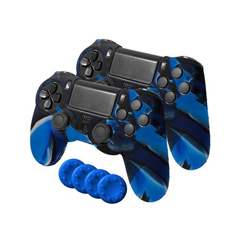Gamer Dual Kit 2 Fundas Silicona + 4 Grips
