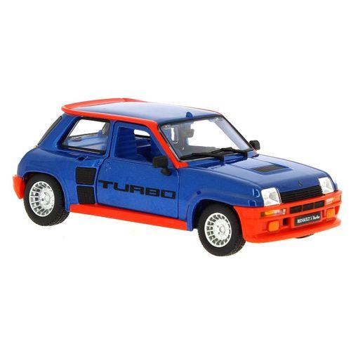 Coche Miniatura Renault 5 Turbo Azul 1:24