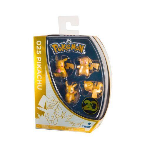 Pokémon 4 Figuras Pikachu 20 Aniversario