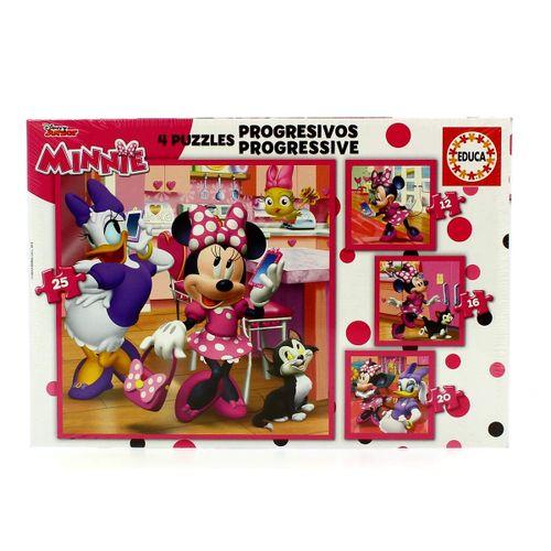 Minnie Mouse Puzzle Progresivo Ayudantes Felices