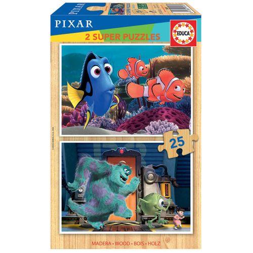 Disney Pixar Puzzle Madera 2x25