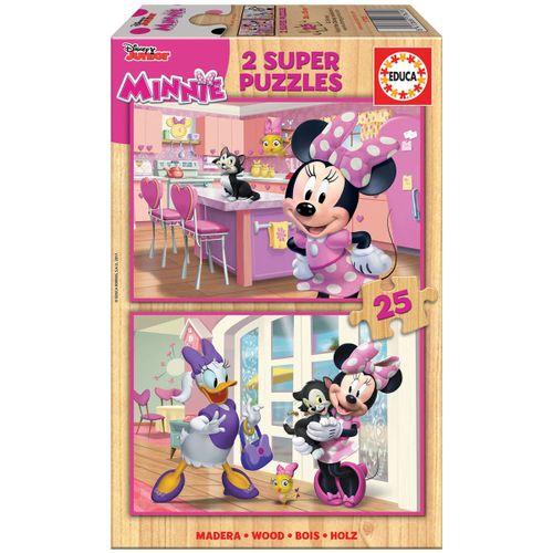 Minnie Mouse Puzzle Madera 2x25 Piezas