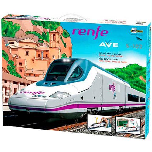 Tren Ave Renfe con Desvíos y Estación