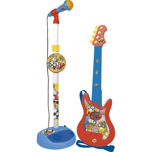 Superzings Pack Micrófono + Guitarra Infantil