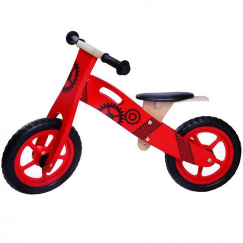 Bicicleta de Madera Roja Infantil