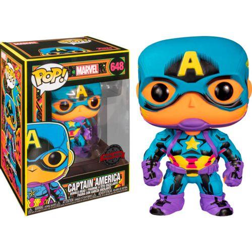 Funko POP Marvel Capitán América Black Light