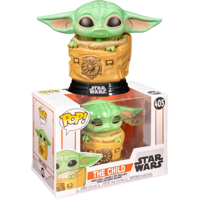 Funko-POP-Star-Wars-Mandalorian-Baby-Yoda-en-Saco