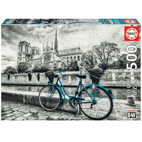 Puzzle Bicicleta Cerca de Notre Dame 500 Piezas