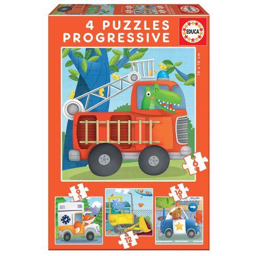Puzzles Progresivos Patrulla Rescate 6+9+12+16
