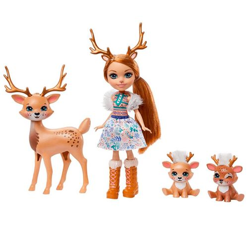 Enchantimals Rainey Reindeer con Mascotas