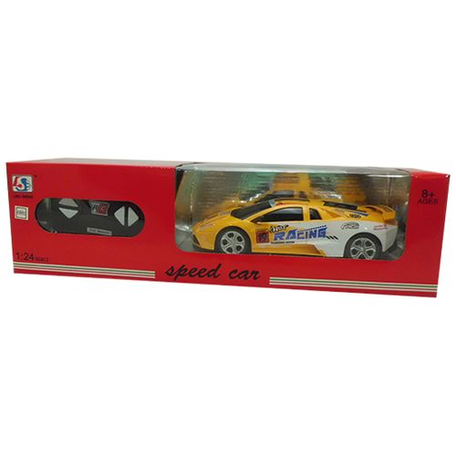 Coche RC Speed Car Amarillo/Blanco Escala 1:24