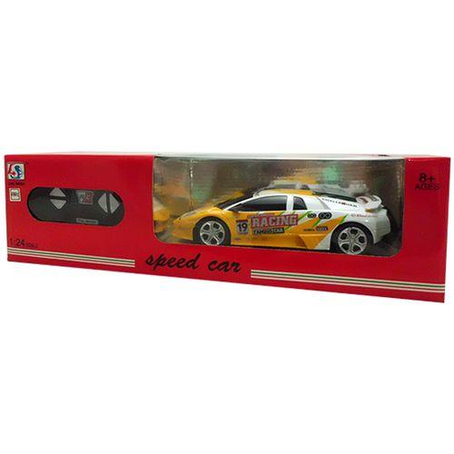 Coche RC Speed Car Blanco/Amarillo Escala 1:24