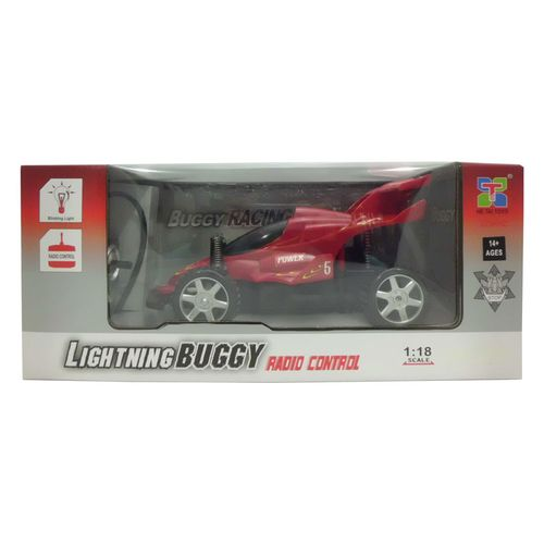 Coche RC Buggy Racing Rojo Escala 1:18