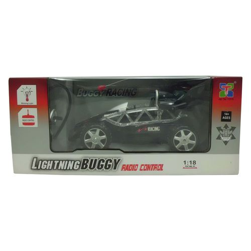Coche RC Buggy Negro Escala 1:18