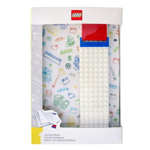 Lego Agenda Blanca con Banda de Construcción