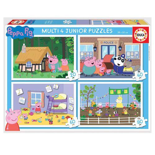 Peppa Pig Puzzles Progresivos 20+40+60+80