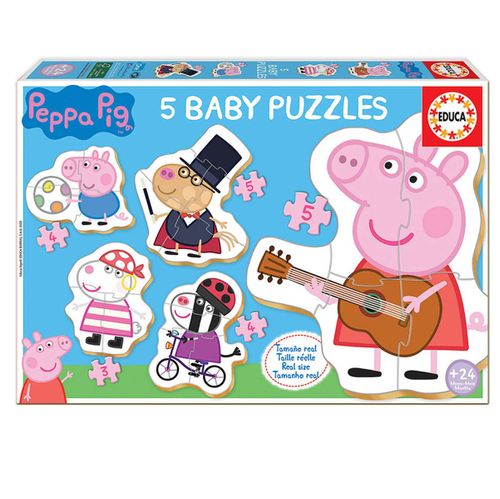 Peppa Pig 5 Baby Puzzles