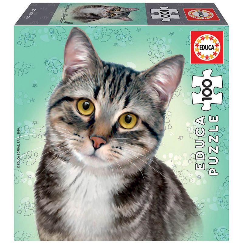 Puzzle-Gato-Europeo-100-Piezas