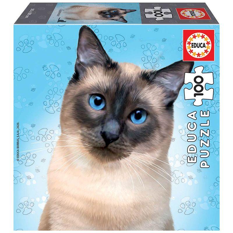 Puzzle-Gato-Siamese-100-Piezas