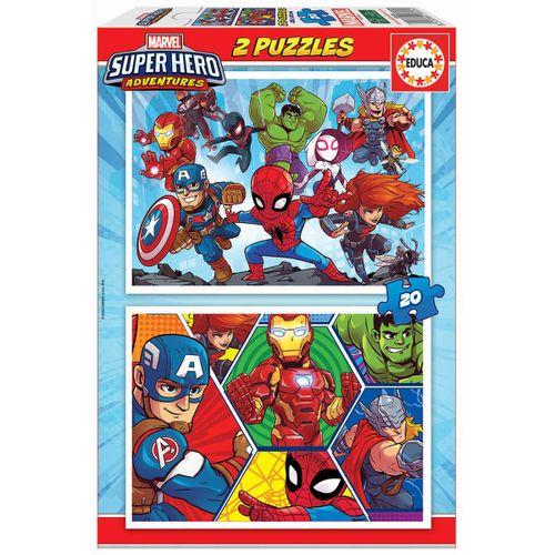Los Vengadores Pack Puzzle 2x20 Piezas