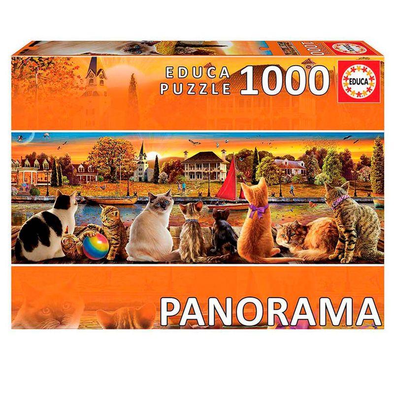 Puzzle-1000-Piezas-Gatos-en-el-Embarcadero